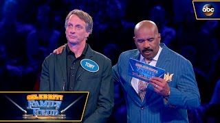 Tony Hawk and Son Play Fast Money - Celebrity Family Feud