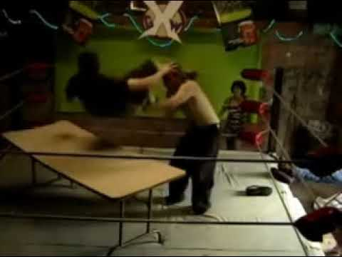 Backyard Wrestling- Powerbomb through a table! - YouTube