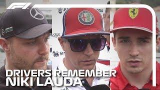 F1 Drivers Remember Niki Lauda   2019 Monaco Grand Prix
