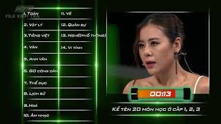 Thử thách kể 20 môn học trong 60 giây   HTV NHANH NHƯ CHỚP   NNC #13   30/6/2018