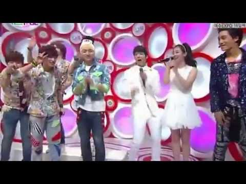 120527 - MC Kai (EXO-K), Woohyun (Infinite) & IU  @ SBS Inkigayo