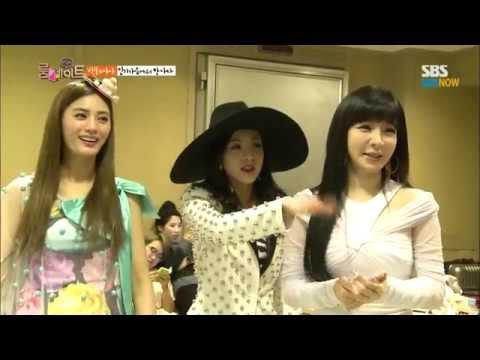 SBS [룸메이트] - 인기가요 2NE1 대기실을 찾은 나나