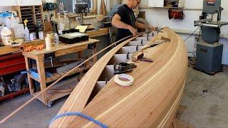 Closing hull on cedar strip canoe