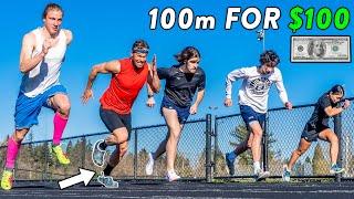 FAST 100m vs. Subscribers, Winner Gets $100! #NSTC
