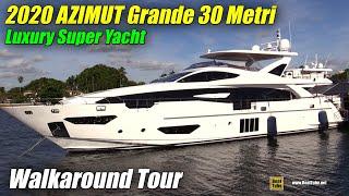 2019 Azimut Grande 30 Metri Luxury Yacht - Deck and Interior Walkaround - 2018 FLIBS