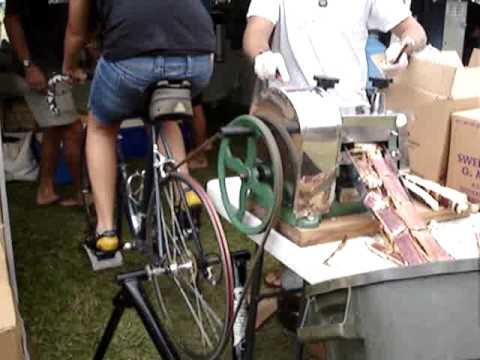 Bike Powered Sugar Cane Juicer Youtube