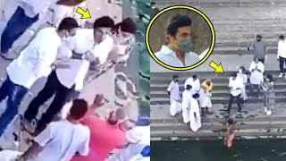 Ranbir Kapoor Immerses Rishi Kapoor Ashes In Banganga Ghat..