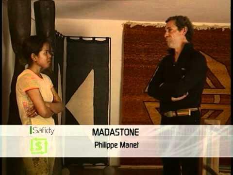 Emission Safidy de MBS qui présente Madastone et le travail de Philippe Manet
