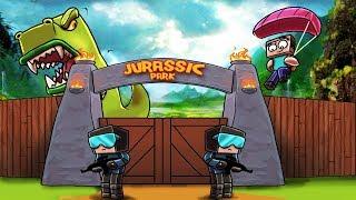 Minecraft - ESCAPED DINOSAUR DEFENSE: T-Rex Army! (Jurassic Park Challenge)