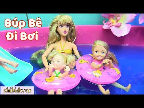ĐỒ CHƠI TRẺ Em - Búp Bê Barbie Và Búp Bê Em Bé Đi Hồ Bơi Ngày Cuối Tuần  (chibido.vn)