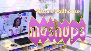 Mash Ups: Sisters Dollhouse Crafts | Living Room | Closet | Kitchen & More