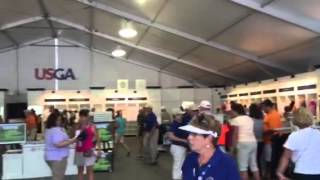 A look at the merchandise tent at the U.S. Women's Open on the final day
