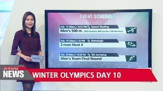 PyeongChang Winter Olympics Day 10