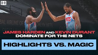 James Harden and Kevin Durant Go Off In Harden's Nets Debut
