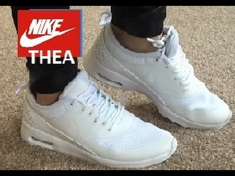 NIKE THEA Air Max White Trainers Women Mens QUICK 1 MIN Review!