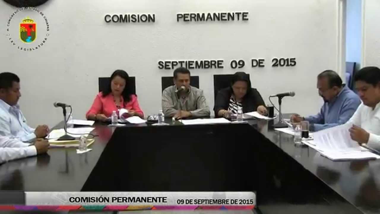 Comisión Permanente 09 de Septiembre de 2015