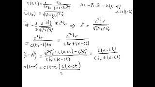 546 Electromagnetismo - Potenciales y campos - Potenciales L-W ejemplo trayectoria hiperbólica