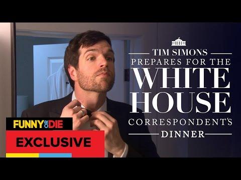 Tim Simons Prepares For The White House Correspondents' Dinner