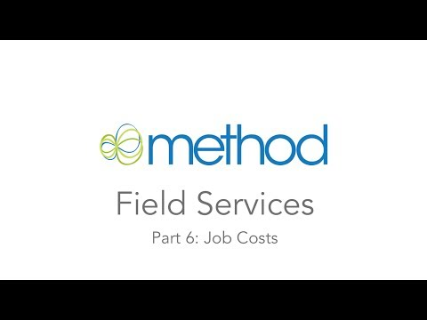 [Method CRM] Field Services 06: Job Costs