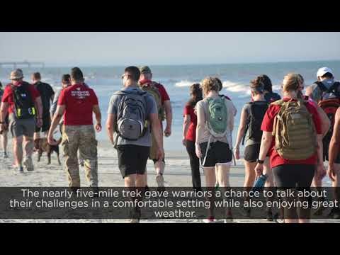 Wounded Warrior Project partnered with Team RWB and GORUCK to take veterans on a hike along Jacksonville Beach recently. The gathering connected warriors with one another while also providing a physical fitness outlet.