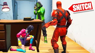 SNITCH The SNEAKY HIDER To STAY ALIVE! (Fortnite Hide And Seek)