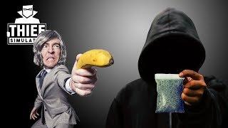 But He's Got A Gun!   Robbing A Dealer's House    Thief Simulator #7