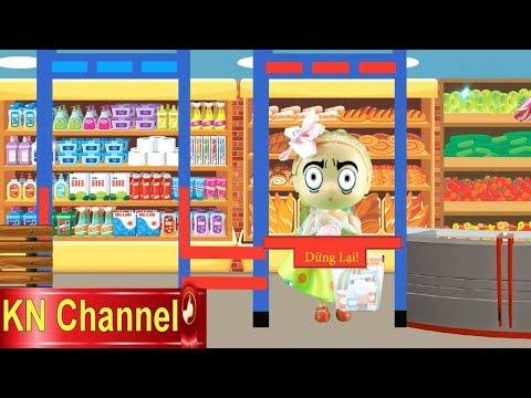 SIÊU THỊ  BÚP BÊ ĐI MUA BÁNH KẸO & KHÁM PHÁ BÍ MẬT MÃ VẠCH Supermarket for doll KN Channel