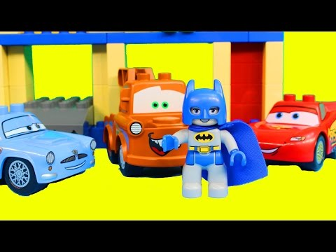 Disney Pixar Cars Lego Duplo Big Bentley Playset Lightning McQueen Mater Batman Joker Finn Mcmissile