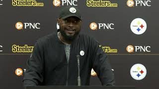 Mike Tomlin Reacts to Antonio Brown trade request