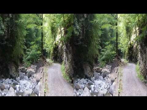 Impressionen aus der Melchaaschlucht in 3D