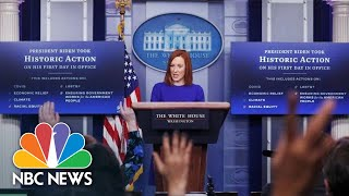 White House Holds Press Briefing: January 25 | NBC News
