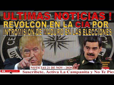 ULTIMAS NOTICIAS ! REVOLCON EN LA CIA POR INTROMISION DE MADURO EN ELECCIONES 2020