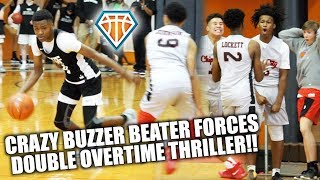 CRAZY BUZZER BEATER FORCES DOUBLE OVERTIME!! | Isaiah Collier & TSF Mack vs Houston Blue Chips