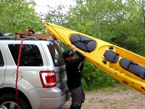 Kayak Loader For Suv S Hobbit Roller In Use For Those