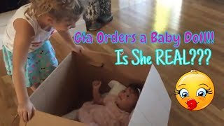 Gia Orders FAVORITE Baby Doll SKIT, But When She Comes in the Mail, a HUGE SURPRISE! Is She REAL??