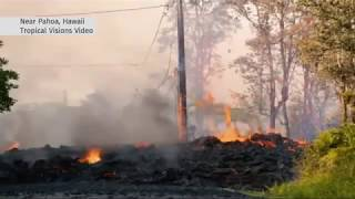 HAWAII VOLCANO Kilauea Lava Spews 100 feet high -Toxic Gas fills the air!