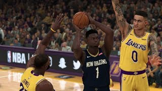 NBA 2K20 Gameplay - Los Angeles Lakers vs New Orleans Pelicans – NBA 2K20 PS4