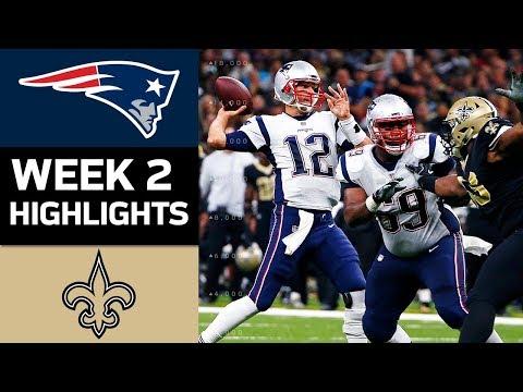 Patriots vs. Saints | NFL Week 2 Game Highlights
