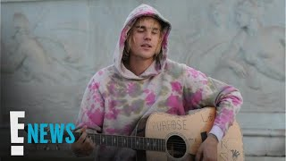 Justin Bieber Serenades Hailey Baldwin in London | E! News