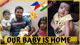 SURPRISE OUR BABY IS HOME II Filipino Indian Family Vlog # 140
