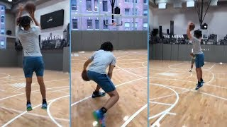 Cole Anthony Working On Rhythm 3s Before While Home In NY