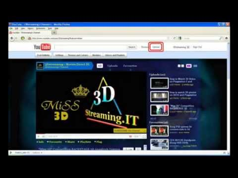 How to add  upload a 3D video Side by Side on YouTube 3D YT3D enable SbS video Version