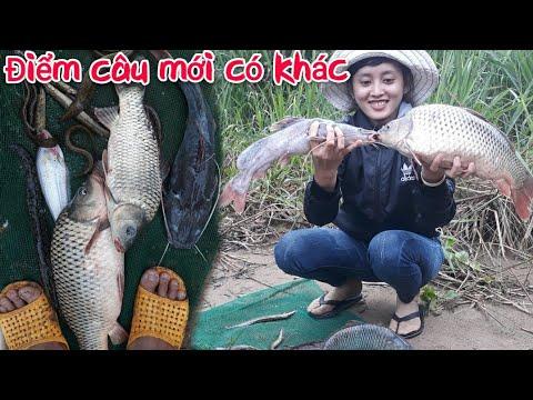 Cô Gái Mê Câu La Làng Khi Bị Cá Chép HuGo Kéo /Điểm Câu Mới Toàn Gặp Cá To