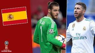 Đội hình ĐT Tây Ban Nha tham dự World Cup 2018