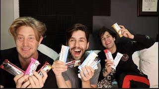 PROTEIN BAR TASTING ft DAVID DOBRIK AND JASON NASH!