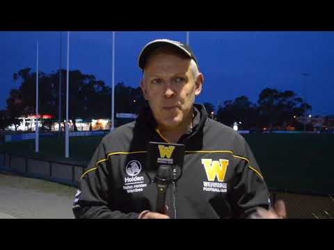 John Lamont: round 8 post game (Sandringham vs Werribee)