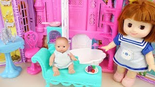 Baby doll Princess castle play baby Doli house
