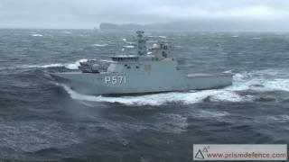 Lynx Helicopter lander på skib