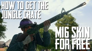 PUBG News | JUNGLE CRATE & HOW TO GET IT FOR FREE | M16 Skin & More