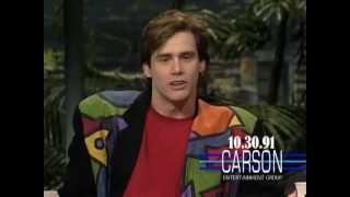 Jim Carrey Impressions of Kevin Bacon & Wile E. Coyote on Johnny Carson's Tonight Show